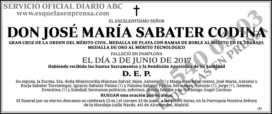 José María Sabater Codina